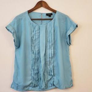 🌵Jason Wu blue short sleeve blouse size large